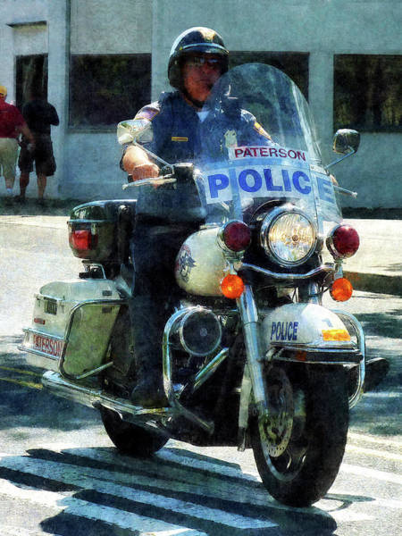 Photograph - Police - Motorcycle Cop by Susan Savad