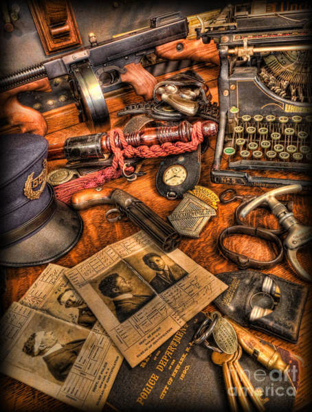 Wall Art - Photograph - Police Officer- The Detective's Desk II by Lee Dos Santos