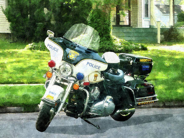 Photograph - Police - Police Motorcycle by Susan Savad