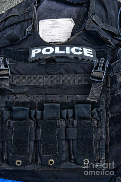 Ward Photograph - Police - The Tactical Vest by Paul Ward