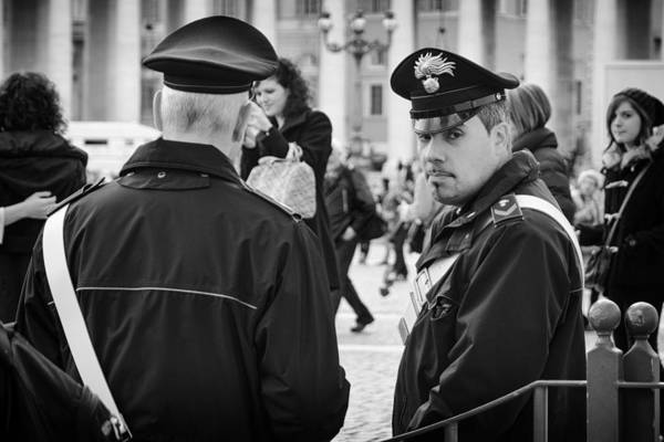 Photograph - Policemen In Rome by Pablo Lopez