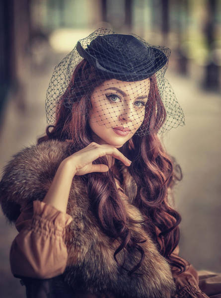Beauty Wall Art - Photograph - Polina. Retro. by Tatyana Nevmerzhytska
