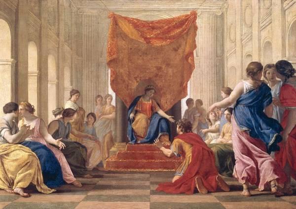 Homage Photograph - Poliphilus Kneeling Before Queen Eleuterylida, C.1643-44 Oil On Canvas by Eustache Le Sueur