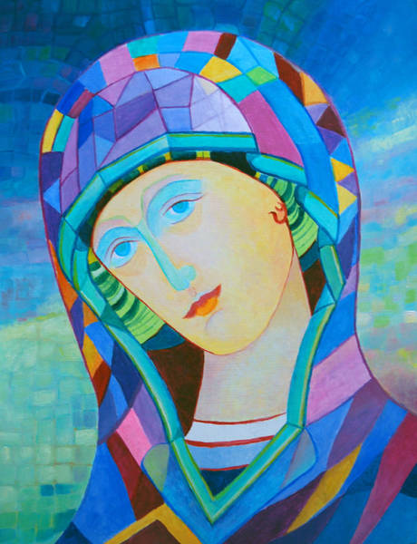 Pray For Love Wall Art - Painting - Our Lady Of Victory. Santa Madonna Holy Mary Icon by Magdalena Walulik