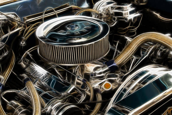 V8 Engine Wall Art - Photograph - Polished Power Fractal by Ricky Barnard