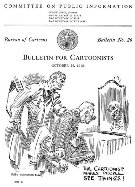Political Cartoon Painting - Political Cartoonist, 1918 by Granger