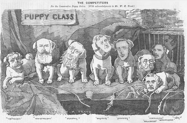 Political Puppy Class Art Print