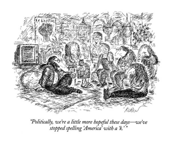 Long Day Drawing - Politically by Edward Koren