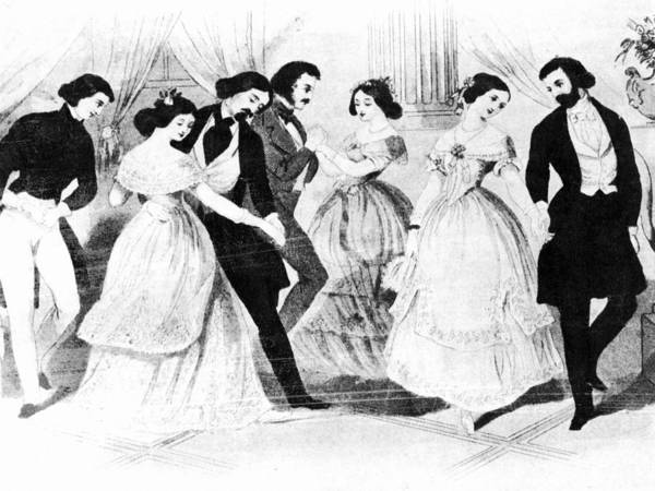 Painting - Polka Dancing, 1848 by Granger