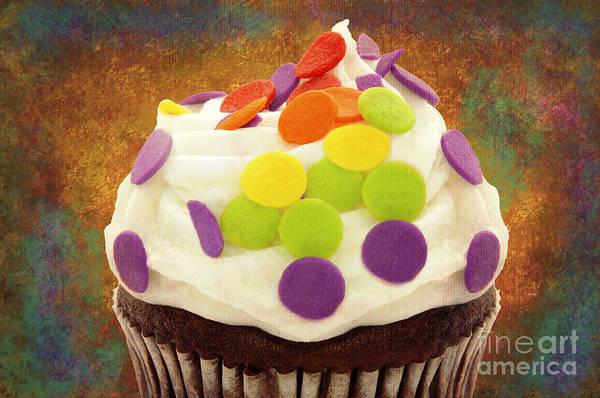 Photograph - Polka Dot Cupcake 3 by Andee Design