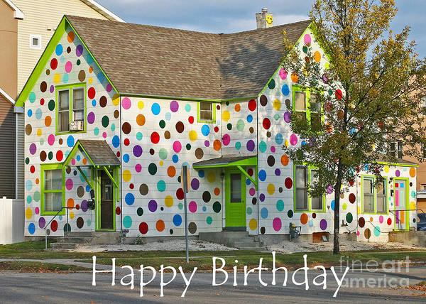 Photograph - Polka Dot Happy Birthday by Steve Augustin