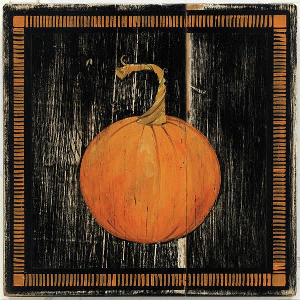 Autumn Painting - Polka Dot Pumpkin I by Wild Apple Portfolio