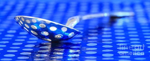 Blue Spoon Photograph - Polka Dot Spoon 2 by Pattie Calfy