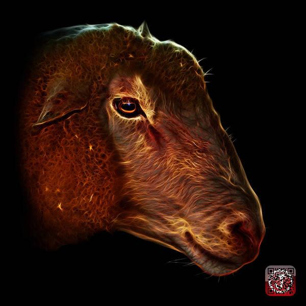 Digital Art - Polled Dorset Sheep - 1643 F by James Ahn