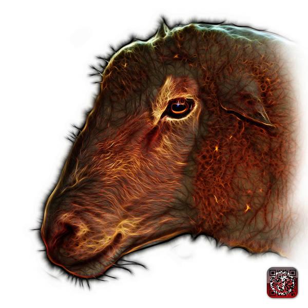 Digital Art - Polled Dorset Sheep - 1643 Fs by James Ahn