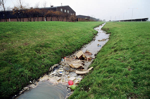 Wall Art - Photograph - Polluted Ditch by Robert Brook/science Photo Library