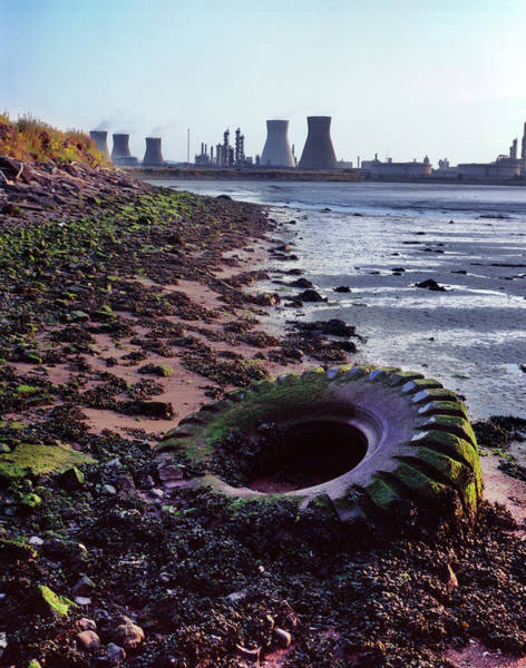 Tyre Wall Art - Photograph - Polluted River by Gustoimages/science Photo Library
