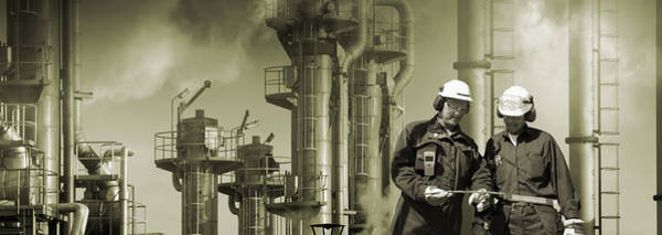 Wall Art - Photograph - Pollution Workers And Industry by Christian Lagereek