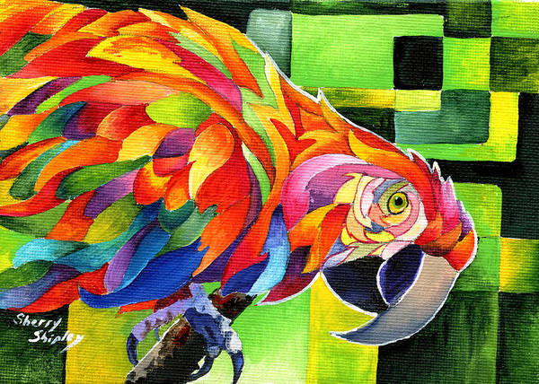 Painting - Polly Wants To Party by Sherry Shipley
