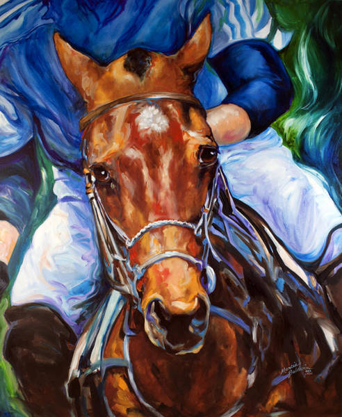 Wall Art - Painting - Polo Horse By Marcia Baldwin by Marcia Baldwin