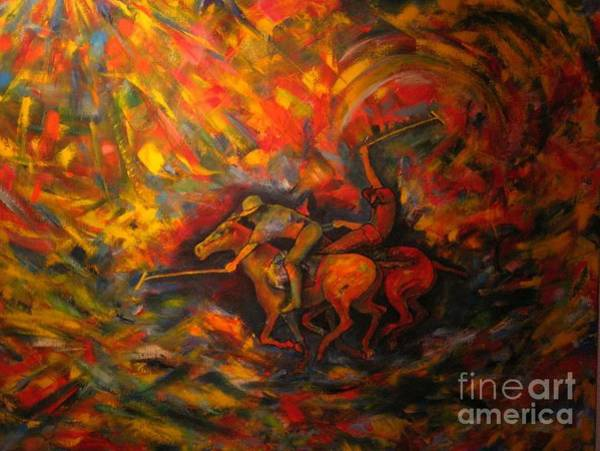 Painting - Polo Iv by Dagmar Helbig