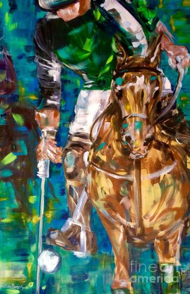 Painting - Polo Player by Lisa Owen-Lynch