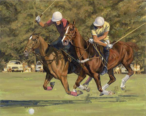 Wall Art - Painting - Polo Match by Don  Langeneckert