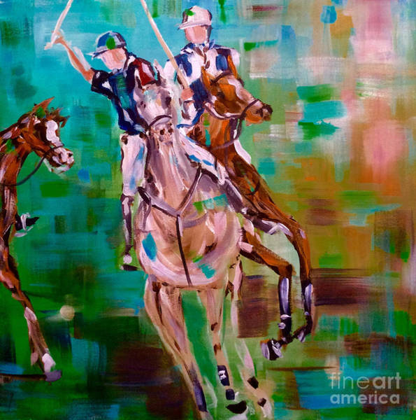 Painting - Polo Ponies by Lisa Owen-Lynch