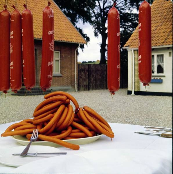 Wall Art - Photograph - Polser Sausages by Horst P. Horst