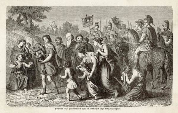 Ashes Drawing - Polybius Carries Philopoemon's  Ashes by Mary Evans Picture Library