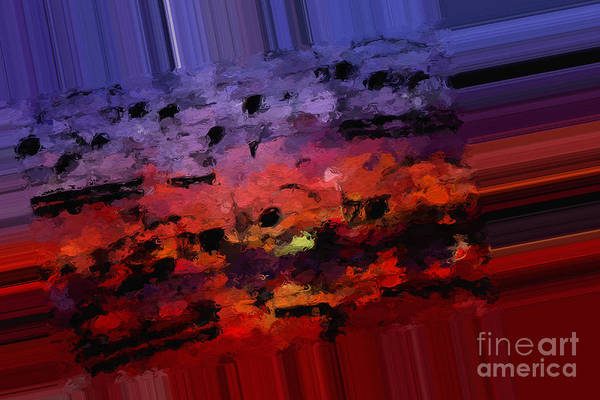 Art Print featuring the digital art Polychromatic Postlude 4 by Lon Chaffin