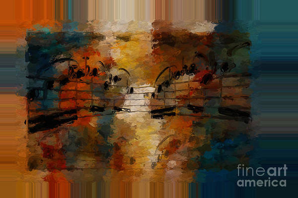 Art Print featuring the digital art Polychromatic Postlude 5 by Lon Chaffin