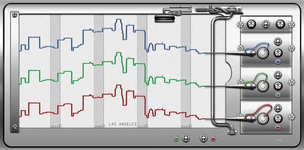 Digital Art - Polygraphs - Citypulse - Los Angeles Skyline  by Serge Averbukh