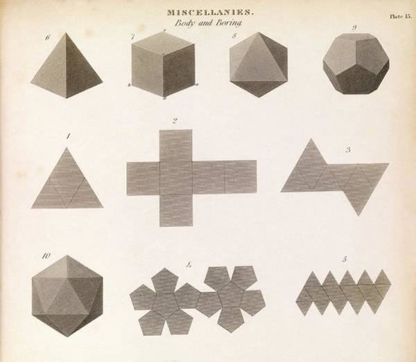 2d Photograph - Polyhedron Geometry by Middle Temple Library