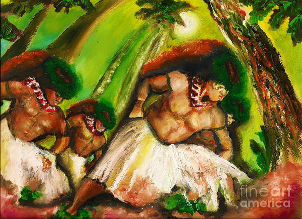 Painting - Polynesian Chant by Donna Chaasadah