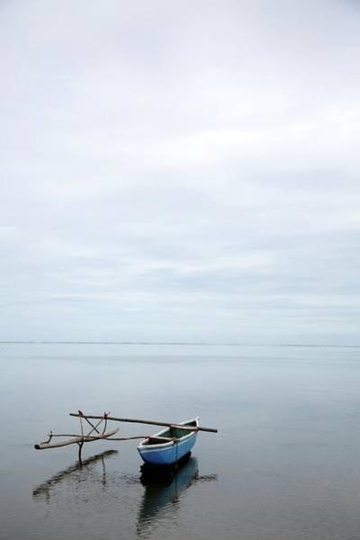 Outrigger Canoe Photograph - Polynesian Outrigger Canoe by Brian D Cruickshank