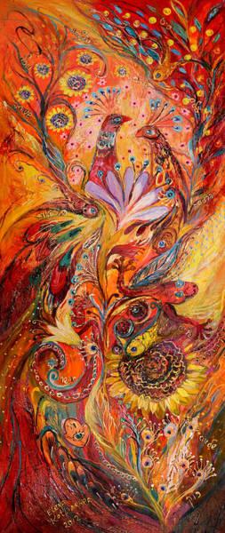 Wall Art - Painting - Polyptich Part IIi - Fire by Elena Kotliarker
