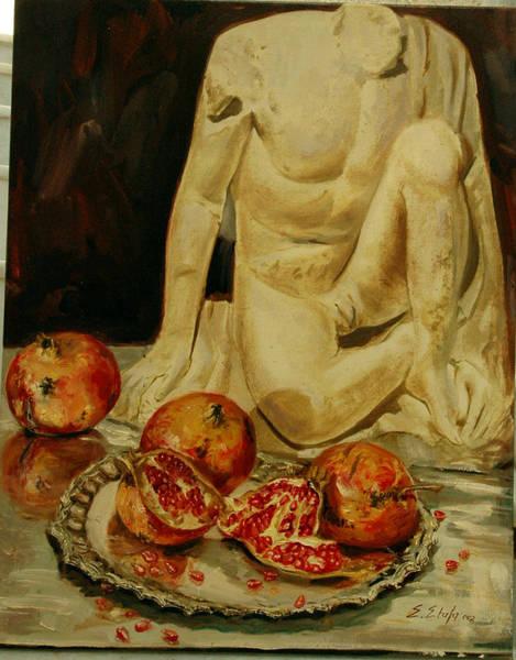 Painting - Pomegranate by Sefedin Stafa