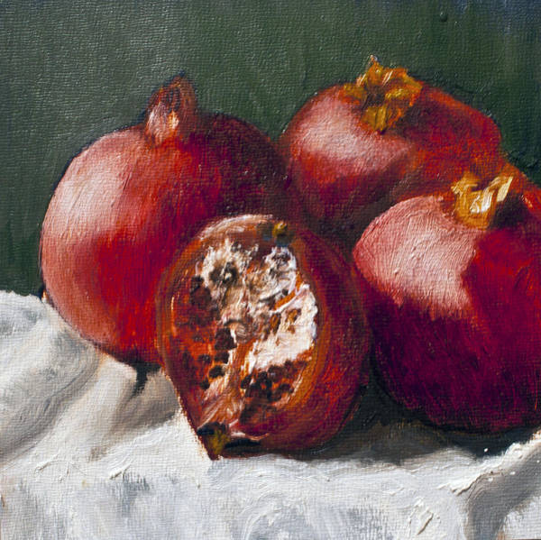 Painting - Pomegranates by Gaye White