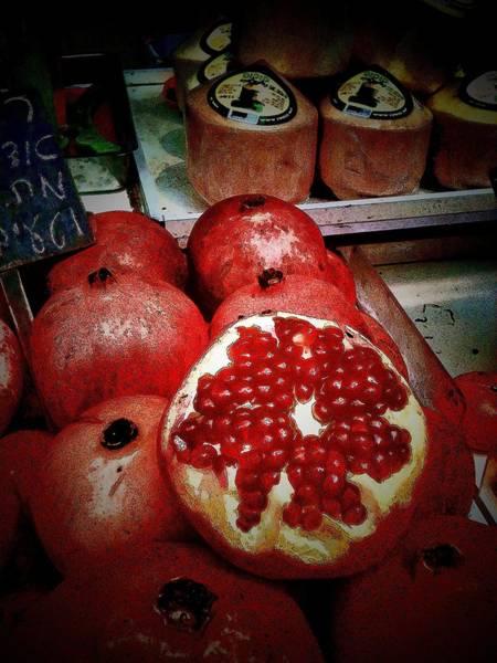 Photograph - Pomegranates In Open Market IIi by Lesa Fine