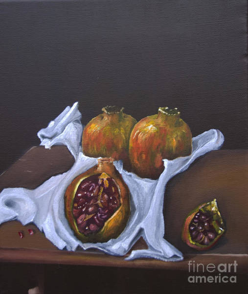 Painting - Pomegranates by James Lavott