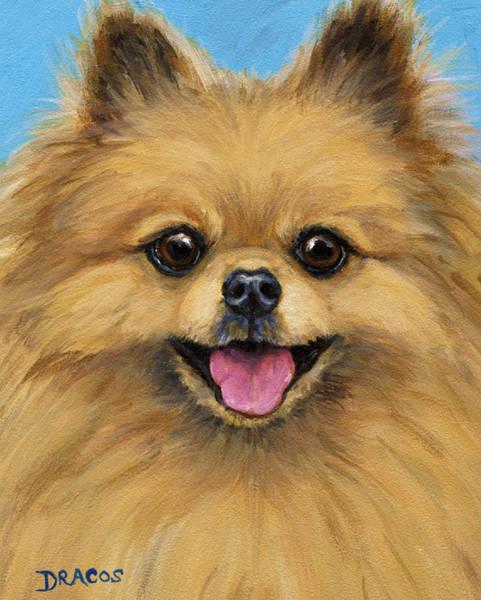 Pomeranian Painting - Pomeranian Smiling by Dottie Dracos