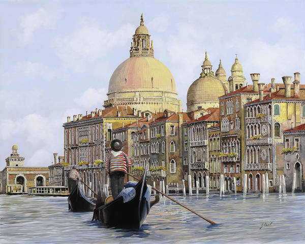 Dating Painting - Pomeriggio A Venezia by Guido Borelli