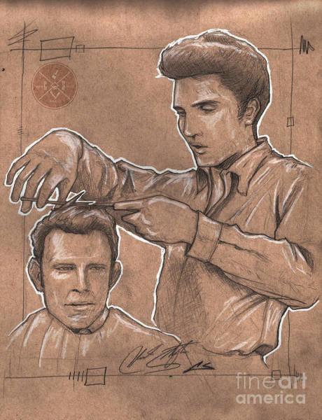 Barbershop Wall Art - Drawing - Pompadour King by Shop Aethetiks