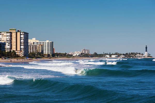 Surf City Usa Photograph - Pompano Beach, Florida, Exterior View by Walter Bibikow