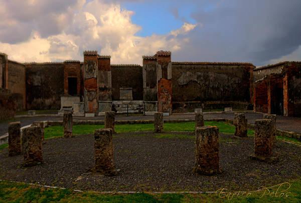 Photograph - Pompei Rovine Monoliti by Enrico Pelos