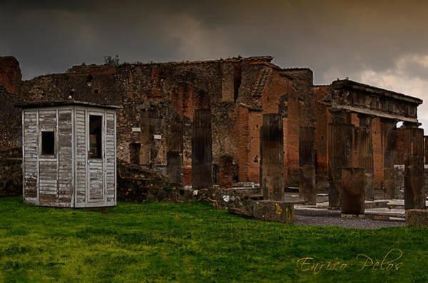 Photograph - Pompei Rovine Teatro Con Box by Enrico Pelos