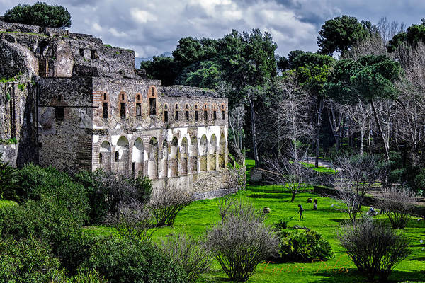 Photograph - Pompei Ruins And Garden by Enrico Pelos