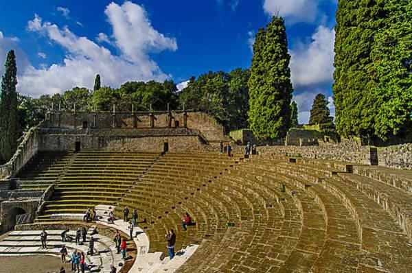 Photograph - Pompei Teatro Principale - Main Theatre by Enrico Pelos