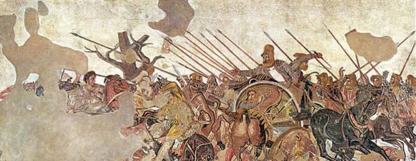 Wall Art - Photograph - Pompeii, Alexander Mosaic, Battle by Science Source